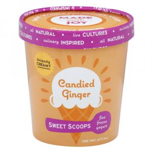 Sweet Scoops Ginger Frozen Yogurt