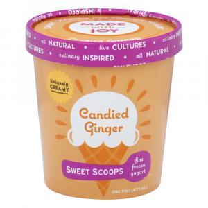 Sweet Scoops Candied Ginger Frozen Yogurt