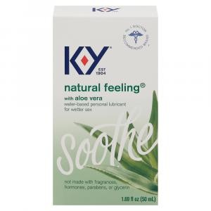 K-Y Natural Feeling Personal Lubricant with Aloe Vera