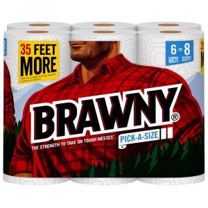 Brawny Pick-a-size Large White Paper Towels