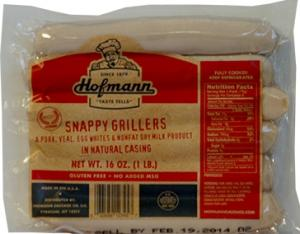 Hofmann Snappy Natural Casing Grillers