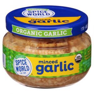 Spice World Organic Minced Garlic Jar