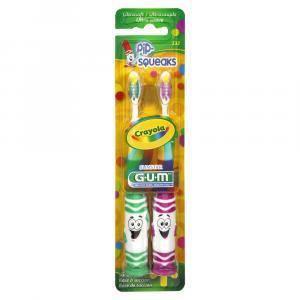 Butler G-U-M Crayola Pip Squeaks Twin Games Toothbrushes