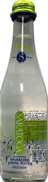 Saratoga Sparkling Spring Water Lemon-lime