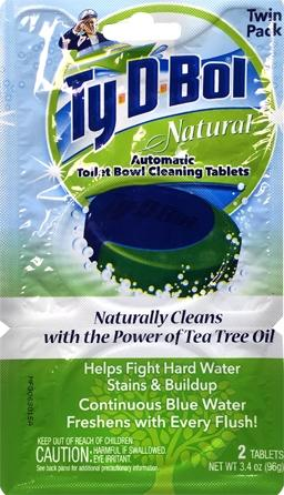 Ty-d-bol Natural Automatic Toilet Bowl Cleaning Tablets