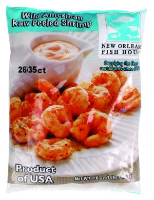 New Orleans Raw Wild American Shrimp 26/35 Count