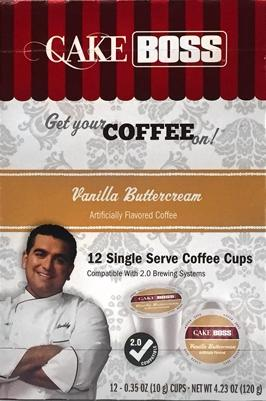 Cake Boss Vanilla Buttercream Single Serve Coffee Cups