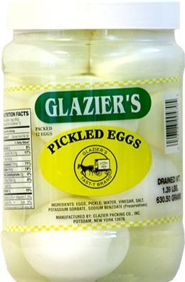 Glazier Pickled Eggs Quart