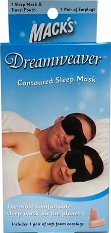 Mack's Dreamweaver Contoured Sleep Mask Plus Earplugs