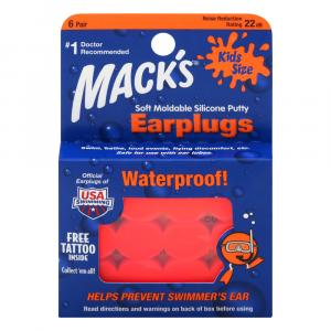 Mack's Kid Size Soft Moldable Silicone Earplugs