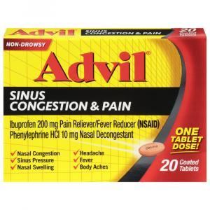 Advil Sinus Congestion Pain Tablets