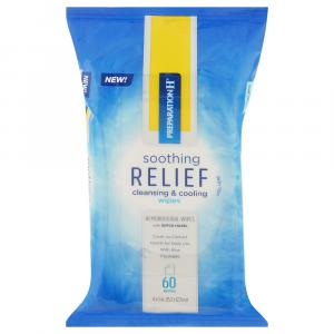 Preparation H Soothing Relief Cleansing & Cooling Wipes
