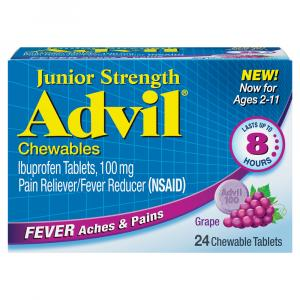Advil Junior Strength Grape Flavored Chewable Tablets