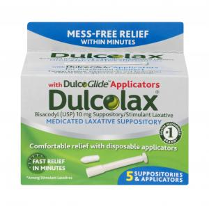 Dulcolax Medicated Laxative Suppositories With Applicators