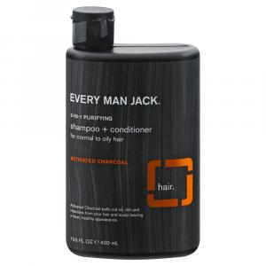 Every Man Jack 2-in-1 Activated Charcoal Shampoo Conditioner