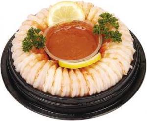 Mini Shrimp Ring with Lemon Pepper Sauce