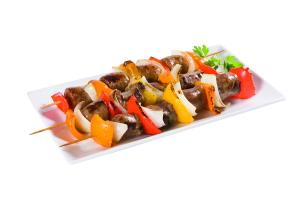 Mild Italian Sausage Kabobs With Vegetables