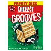 Cheez-It Grooves Crispy Cracker Chips White Cheddar