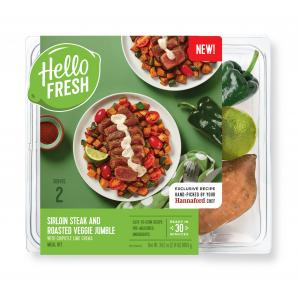 Hello Fresh Meal Kit Sirloin Steak & Roasted Veggie Jumble