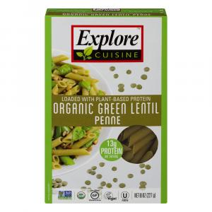 Explore Cuisine Organic Green Lentil Penne