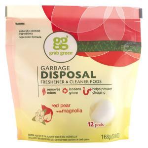 Grab Green Garbage Disposal Freshener & Cleaner PODS
