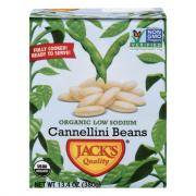 Jack's Quality Organic Low Sodium Cannellini Beans
