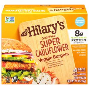Hilary's Grain Free Super Cauliflower Veggie Burgers
