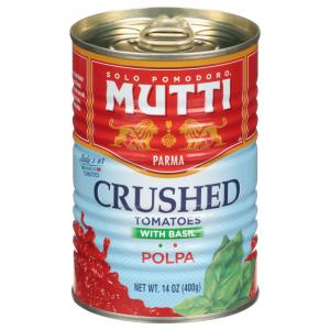 Mutti Finely Chopped Tomatoes with Basil Polpa