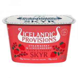Icelandic Skyr Strawberry Lingonberry Yogurt
