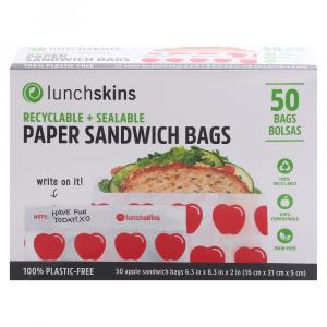 Lunchskins Paper Sandwich Bags Apples