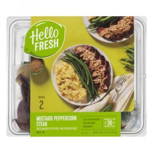 Hello Fresh Meal Kit Mustard Peppercorn Steak