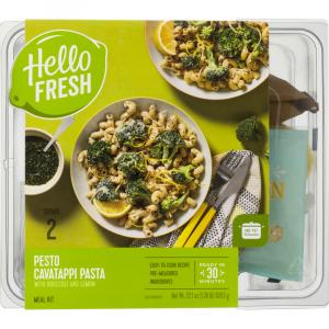 Hello Fresh Meal Kit Pesto Cavatappi Pasta