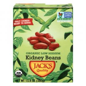 Jack's Quality Organic Low Sodium Kidney Beans