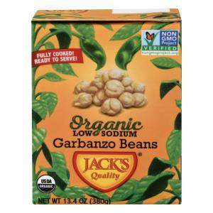 Jack's Quality Organic Low Sodium Garbanzo Beans