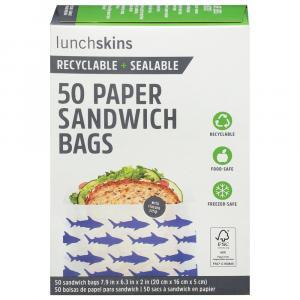 Lunchskins Paper Sandwich Bags Sharks