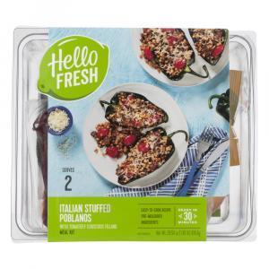 Hello Fresh Meal Kit Italian Stuffed Poblanos