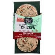 Mighty Spark Chicken Patty Bruschetta
