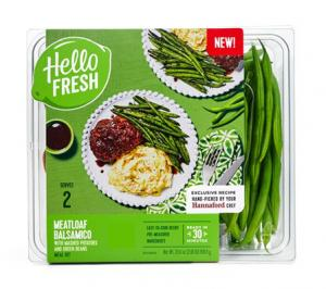Hello Fresh Meal Kit Meatloaf Balsamico