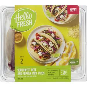 Hello Fresh Meal Kit Southwest Beef & Pepper Jack Tacos