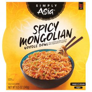 Simply Asia Spicy Mongolian Noodle Bowl