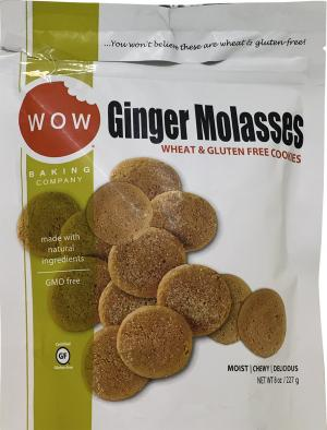 Wow Ginger Molasses Wheat & Gluten Free Cookies