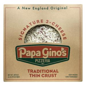 Papa Gino's Signature 3 Cheese Traditional Thin Crust Pizza