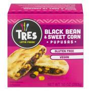 Tres Latin Foods GF Vegan Black Bean & Sweet Corn Pupusas