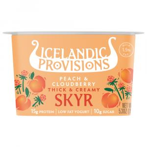 Icelandic Provisions Skyr Peach Cloudberry Yogurt