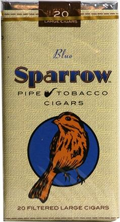Sparrow Pipe Tobacco Cigars Blue Soft Pack