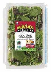 Olivia's Organic 50/50 Blend Baby Spinach Spring Mix