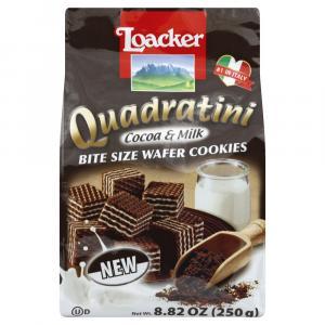 Loacker Quadratini Cocoa & Milk Bite Size Wafer Cookies