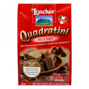 Loacker Quadratini Hazelnut Bite Size Wafer Cookies