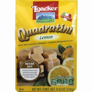 Loacker Quadratini Lemon Bite Size Wafer Cookies
