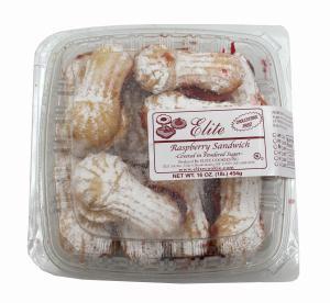 Elite Raspberry Sandwich Powdered Cookies